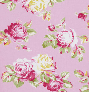 Sunshine Roses cotton fabric by Tanya Whelan for Free Spirit PWTW068pink
