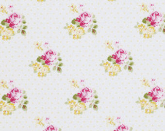 Sunshine Roses cotton fabric by Tanya Whelan for Free Spirit PWTW071yellow Hanky Rose