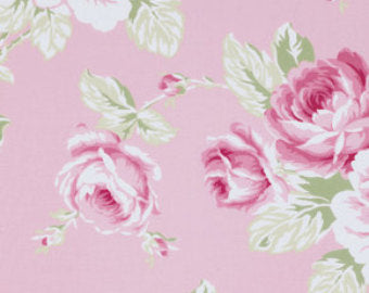 Sunshine Roses cotton fabric by Tanya Whelan for Free Spirit PWTW072pink Full Bloom Roses