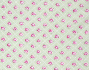 Slipper Roses cotton fabric by Tanya Whelan for Free Spirit PWTW086-green
