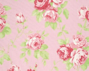 Lulu Roses  cotton fabric by Tanya Whelan for Free Spirit PWTW092pink roses