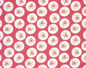 Lulu Roses  cotton fabric by Tanya Whelan for Free Spirit PWTW094red