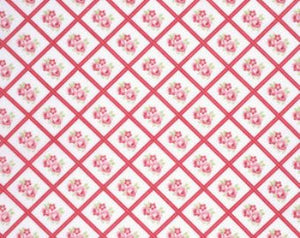 Lulu Roses  cotton fabric by Tanya Whelan for Free Spirit PWTW095red