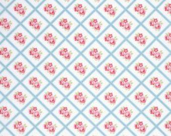 Lulu Roses  cotton fabric by Tanya Whelan for Free Spirit PWTW095sky