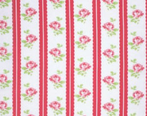 Lulu Roses  cotton fabric by Tanya Whelan for Free Spirit PWTW096red