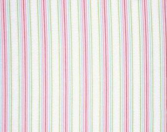 Lulu Roses  cotton fabric by Tanya Whelan for Free Spirit PWTW097white stripe
