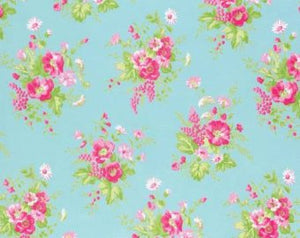Sadie's Dance Card cotton fabric by Tanya Whelan for Free Spirit PWTW125Jade