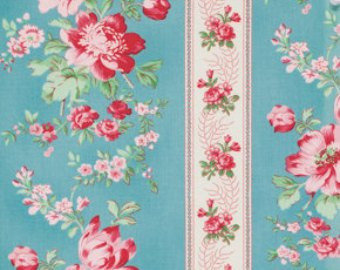 Rosewater cotton fabric  Free Spirit pwvm105pool Climbing Roses