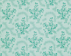 Rosewater cotton fabric  Free Spirit pwvm110mint Toile Roses