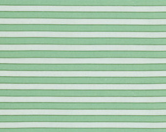 Rosewater cotton fabric  Free Spirit pwvm112green Cabana Stripe