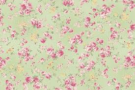 Ruru Roses cotton fabric by Quilt Gate Ru2200-17C Small Roses on Green