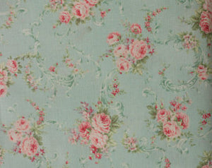 Ruru Rose Bouquet cotton fabric by Quilt Gate Ru2220-16C Roses on Mint