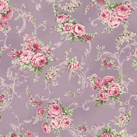 Ruru Rose Bouquet cotton fabric by Quilt Gate Ru2220-16D