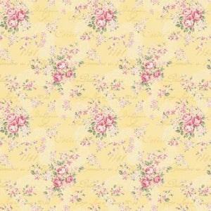 Ruru Prima Ballerina Collection cotton fabric by Quilt Gate Ru2260-16B Yellow Lace