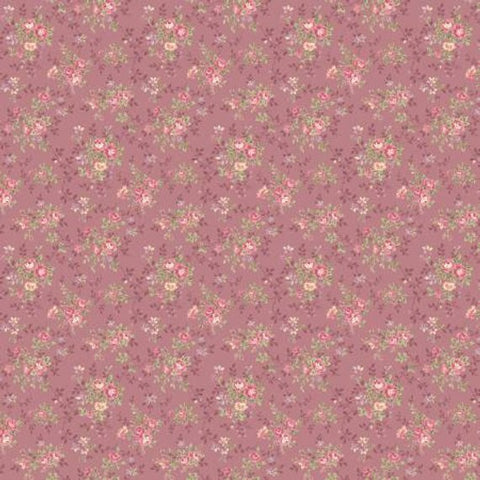 Ruru Prima Ballerina Collection cotton fabric by Quilt Gate Ru2260-17C Pink Roses