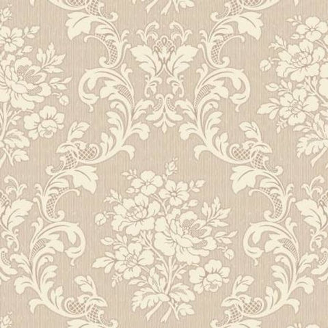 Ruru Tea Party Collection cotton fabric by Quilt Gate Ru2270-17A Beige/Cream