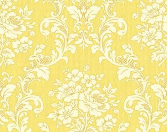 Ruru Tea Party Collection cotton fabric by Quilt Gate Ru2270-17D Yellow