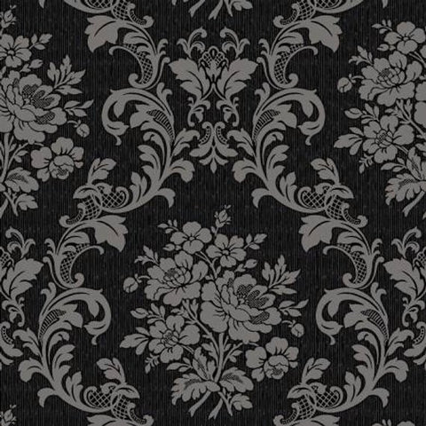 Ruru Tea Party Collection cotton fabric by Quilt Gate Ru2270-17F Black