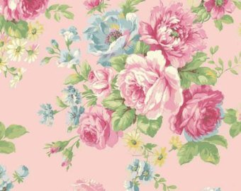 Love Rose Love cotton fabric by Quilt Gate Ru2300-11B Large Bouquet on Pink