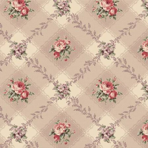 Love Rose Love cotton fabric by Quilt Gate Ru2300-12F Browns