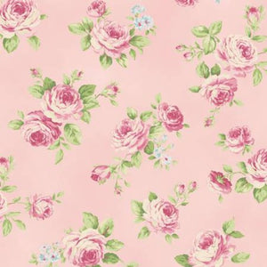 Love Rose Love cotton fabric by Quilt Gate Ru2300-13B Roses on Pink