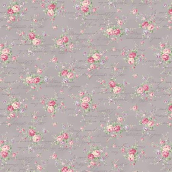 Love Rose Love cotton fabric by Quilt Gate Ru2300-15D
