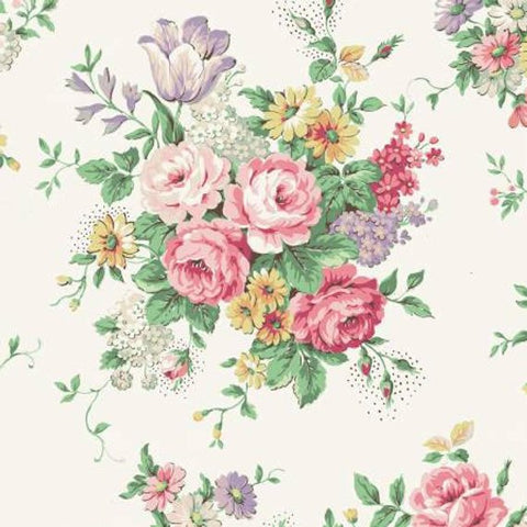 English Rose Garden cotton fabric by Quilt Gate RU2310-11A