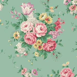 English Rose Garden cotton fabric by Quilt Gate RU2310-11C