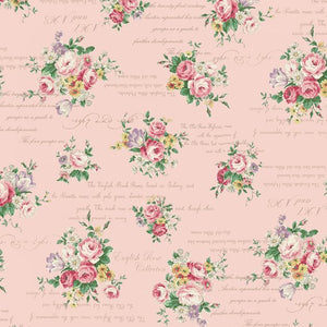English Rose Garden cotton fabric by Quilt Gate RU2310-13B