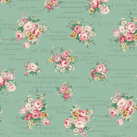 English Rose Garden cotton fabric by Quilt Gate RU2310-13C