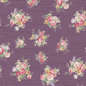 English Rose Garden cotton fabric by Quilt Gate RU2310-13E