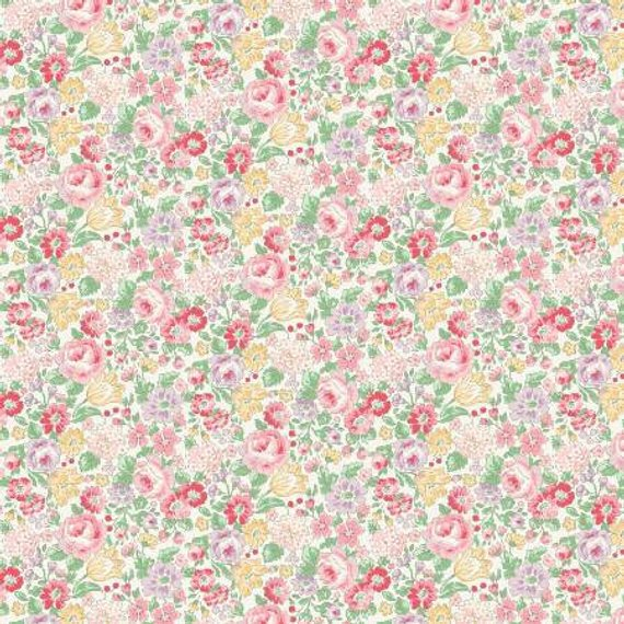 English Rose Garden cotton fabric by Quilt Gate RU2310-14A