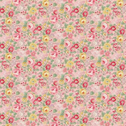 English Rose Garden cotton fabric by Quilt Gate RU2310-14B