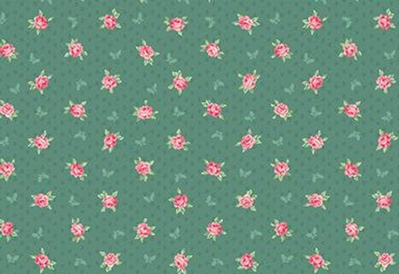English Rose Garden cotton fabric by Quilt Gate RU2310-15C