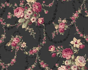 Victorian Rose cotton fabric by Quilt Gate RU2320-12E