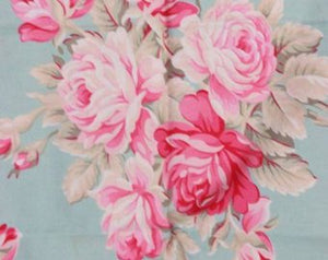 Ava Rose Bouquet cotton fabric by Tanya Whelan for Free Spirit TW04-aqua