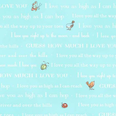 Guess How Much I Love You  cotton fabric by Clothworks Y2108-97