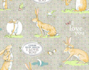 Guess How Much I Love You  cotton fabric by Clothworks  Y2111-61