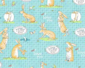 Guess How Much I Love You  cotton fabric by Clothworks Y2111-97