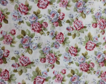 Yuwa cotton fabric  Scattered Roses on Cream YWP816844A