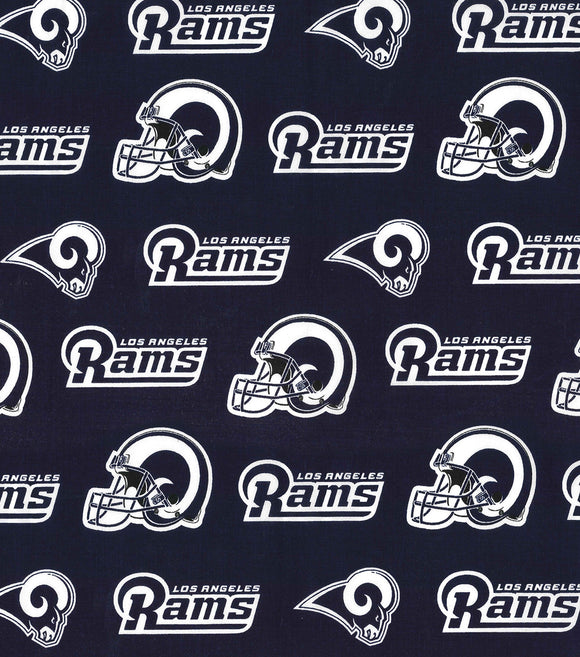 Los Angeles Rams Fabric by the Yard or Half Yard, NFL Cotton Fabric