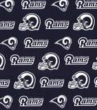 Los Angeles Rams Fabric by the 1/4 Yard, NFL Cotton Fabric