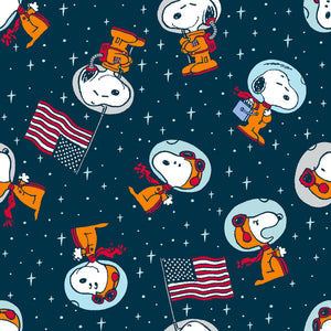 Snoopy Space Toss Fabric by the Yard, Fabric by the Half Yard