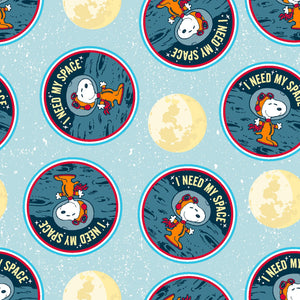 Snoopy Needs Space, Fabric by the Yard, Fabric by the Half Yard