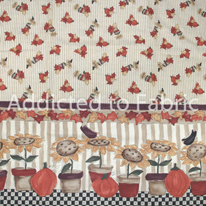 Double Border Fall Fabric by the Yard, by the Half Yard, Leslie Beck