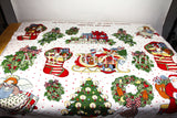 Susan Winget Collection Christmas Appliques, Fabric by the Yard, Cut Out, Cutout