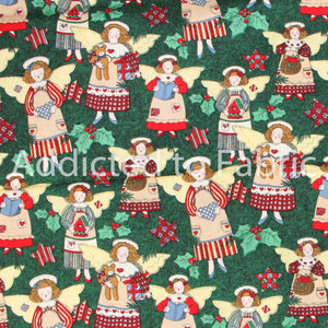 Christmas Fabric by the Yard, by the Half Yard, Angels, Fabric Traditions by Susan Winget