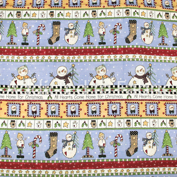 Christmas Fabric by the Yard, by the Half Yard, All Hearts Come Home for Christmas