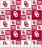 University of Oklahoma Fabric by the Yard or Half Yard, OU, Sooners Fabric