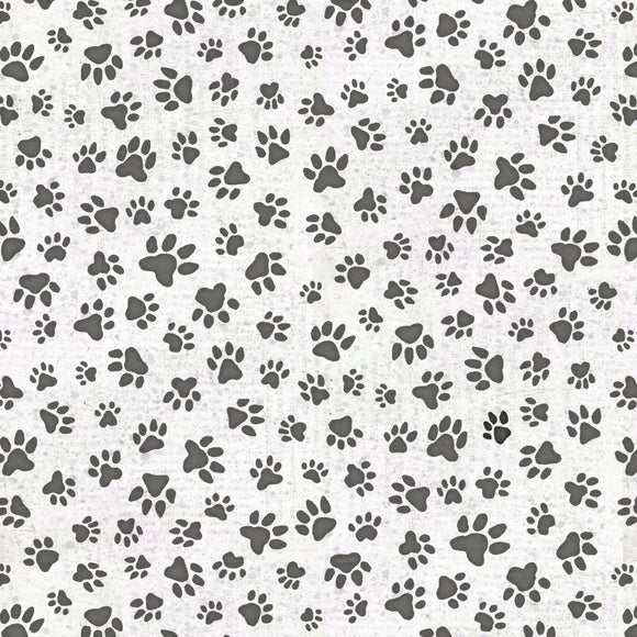 All You Need is Love and a Dog, Fabric by the Yard and Half Yard, Henry Glass, Paw Prints